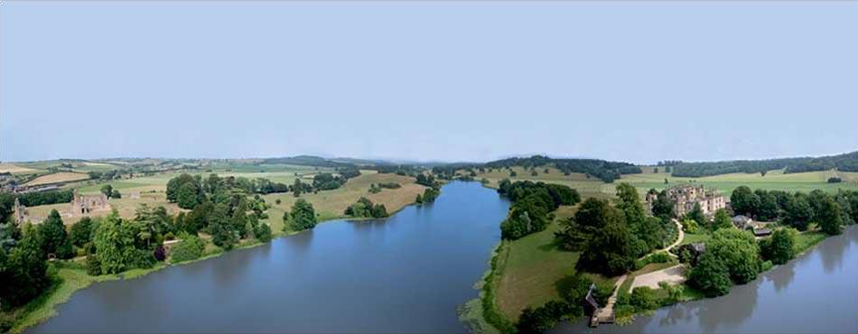 Sherborne Castle Capability Brown landscape